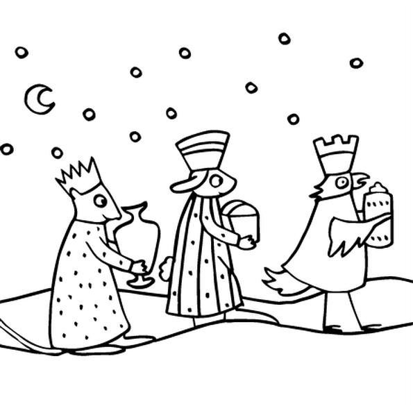 Dessin Les Trois Rois Mages a colorier