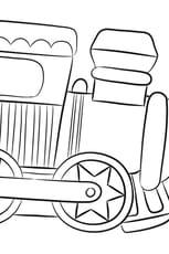 Coloriage Petit Train Jouet