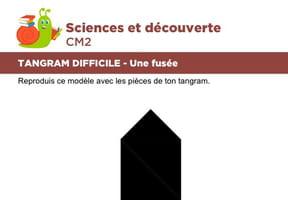 Le tangram niveau difficile, une fusée