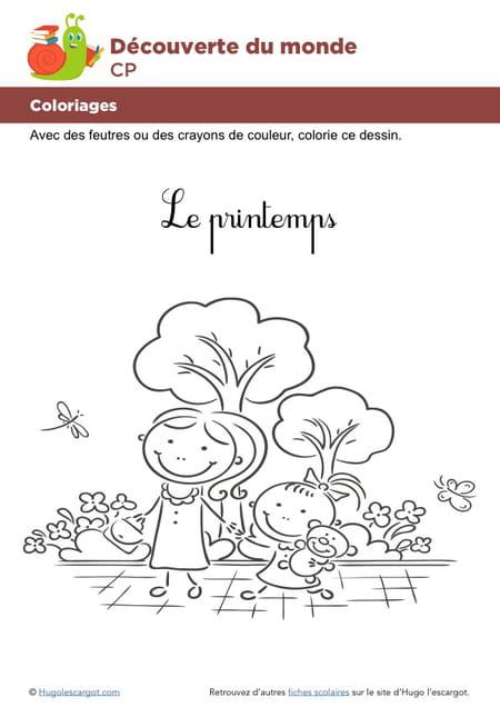 Coloriage De Printemps Hugo Lescargot.Coloriage Le Printemps