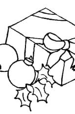Coloriage cadeau de Noël 2 en Ligne Gratuit à imprimer