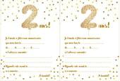 Carte d'invitation d'anniversaire 2ans