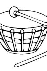 Coloriage tambour