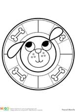 Mandala chien, pour les petits