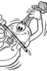 Coloriage violon en Ligne Gratuit à imprimer
