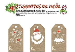 Étiquettes de Noël Classique