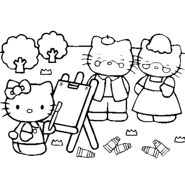 Coloriage a imprimer hello kitty - Dessin a colorier hello kitty ...
