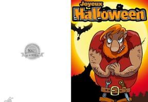 Carte de vœux Halloween ogre