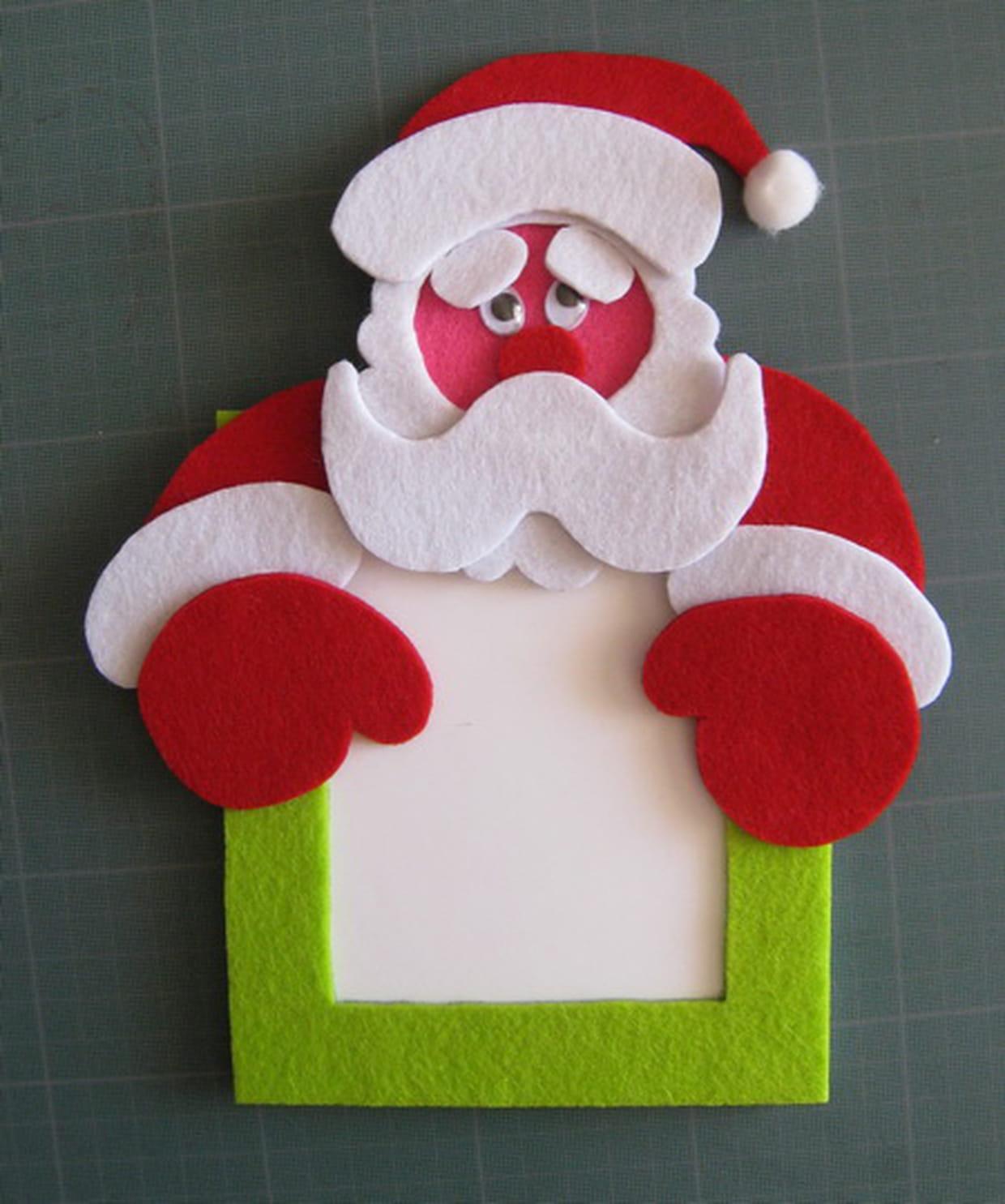 Fabriquer Deco Noel En Feutrine le cadre photo de noël