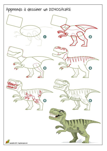 how to draw a dinosaur t rex