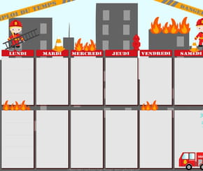 Emploi du temps pompiers