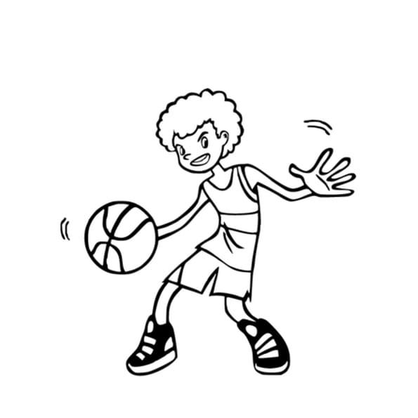 Coloriage Basket-Ball en Ligne Gratuit à imprimer