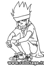 Coloriage Beyblade ginga