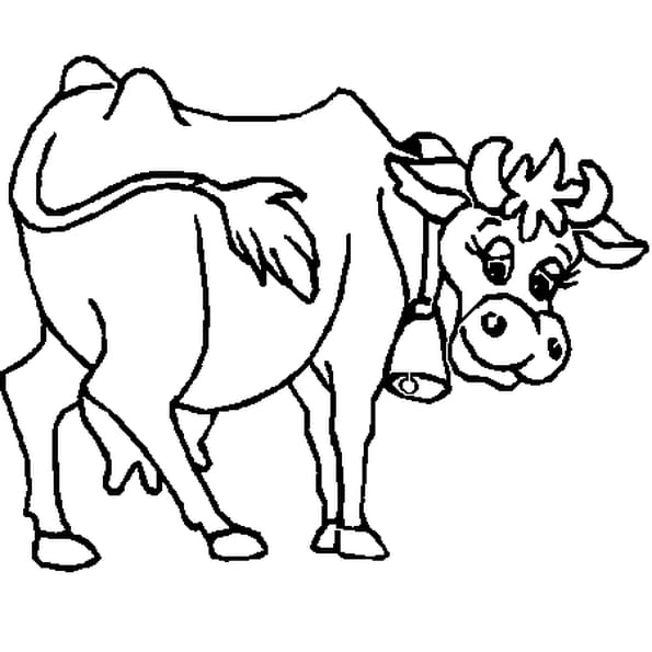 Dessin vache qui rit a colorier