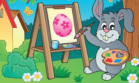 Coloriage Personnages de Pâques