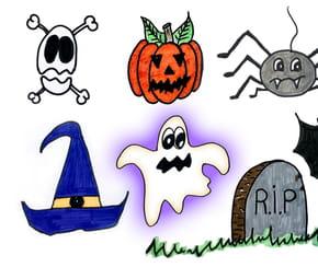 Dessins d'Halloween faciles, par étapes
