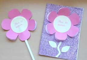 Carte fleur pour la fête des Mères [VIDEO]