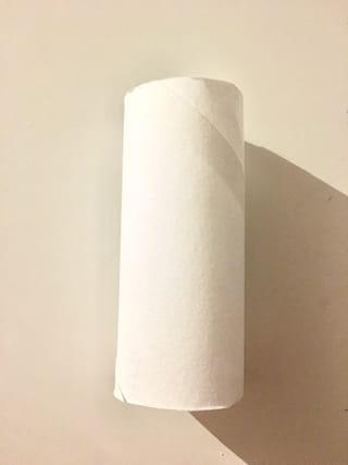 Etape 1: un rouleau de papier toilette blanc