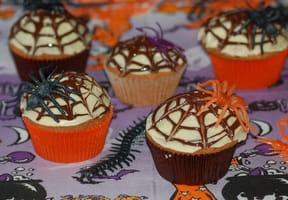 Cupcakes toile d'araignée Halloween