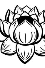 Coloriage Fleur de lotus facile
