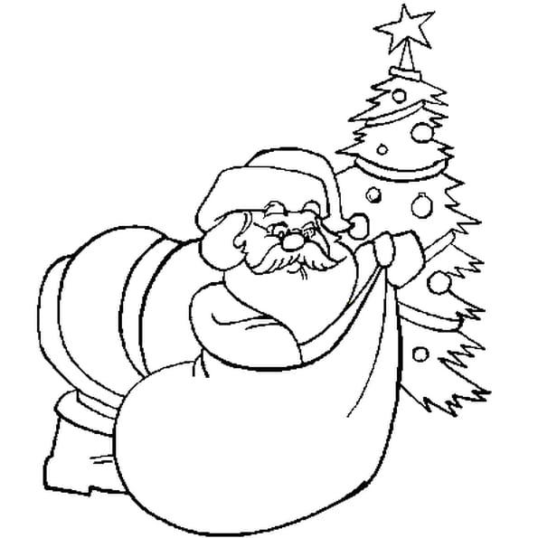 Coloriage de Père Noël en Ligne Gratuit à imprimer