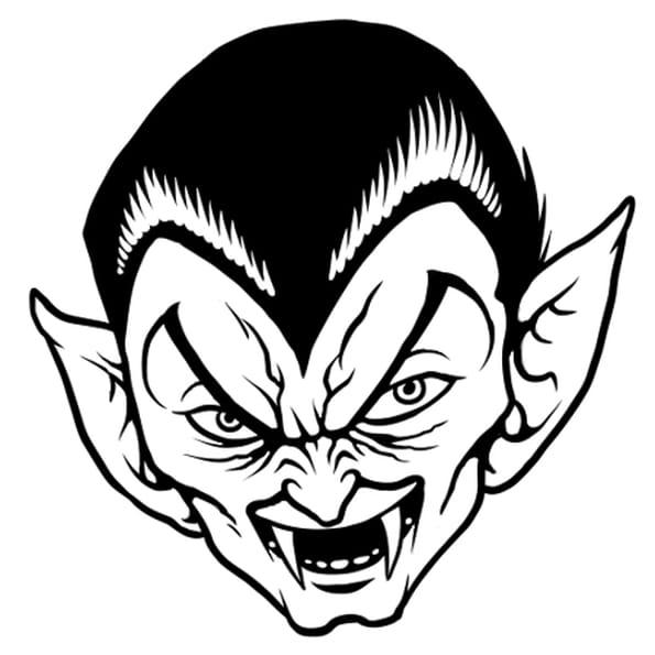 Dessin Tête de Dracula a colorier