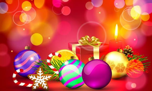 Coloriage jolies boules de Noël
