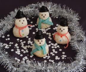 Bonhommes de neige à la noix de coco