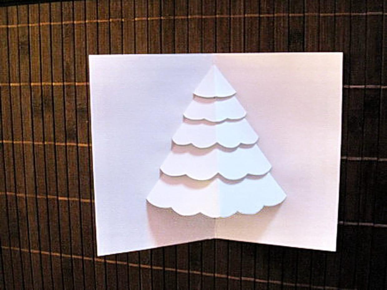 Carte De Voeux 3D A Fabriquer carte sapin de noël en 3d