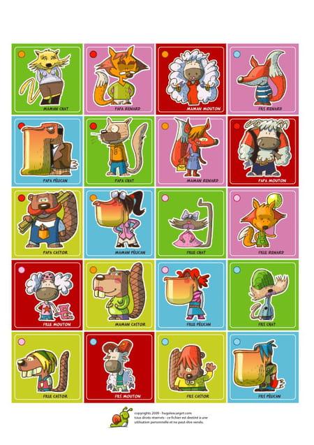 Le jeu de memory - Jeux hugo l escargot 2 ...