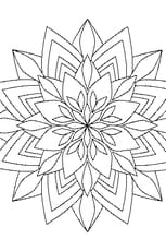 Coloriage Mandala Bouquet