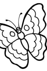 Coloriage papillon rigolo