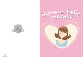 Carte fête des mères jolie maman