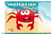 Carte invitation anniversaire crabe
