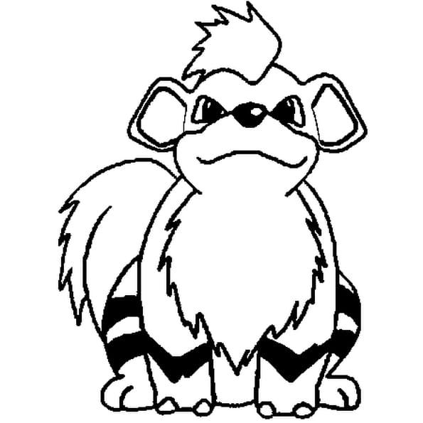 Dessin Pokémon Caninos a colorier