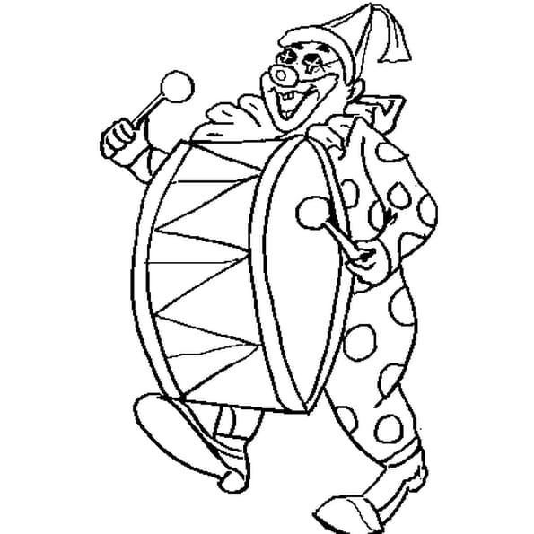 Dessin Clown Carnaval a colorier