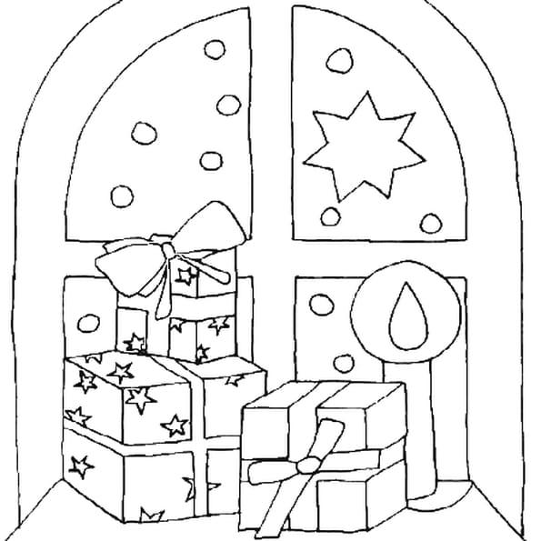 Coloriage noel cadeau en Ligne Gratuit à imprimer