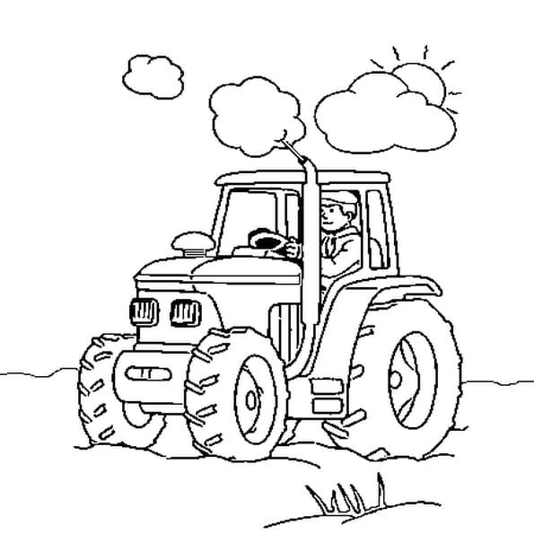 tracteur coloriage