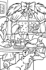 Coloriage repas de noël