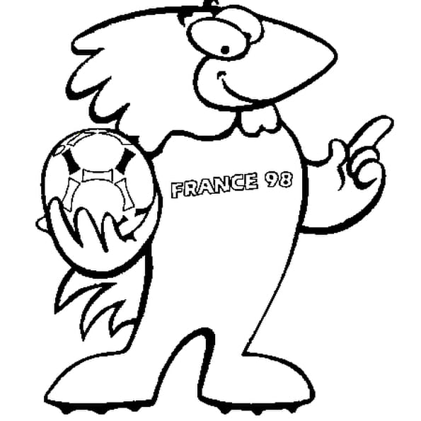 Dessin de la Coupe du Monde 98 a colorier