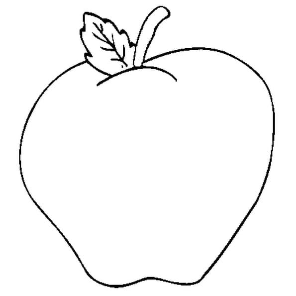 Dessin Pomme de Reinette a colorier