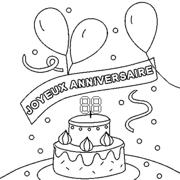 Coloriage joyeux anniversaire en ligne gratuit imprimer - Dessin a imprimer anniversaire ...