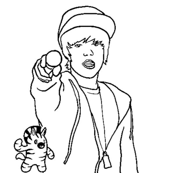 Dessin De Justin Bieber a colorier