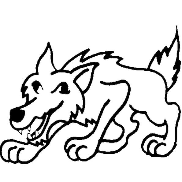 Coloriage Le Loup en Ligne Gratuit à imprimer