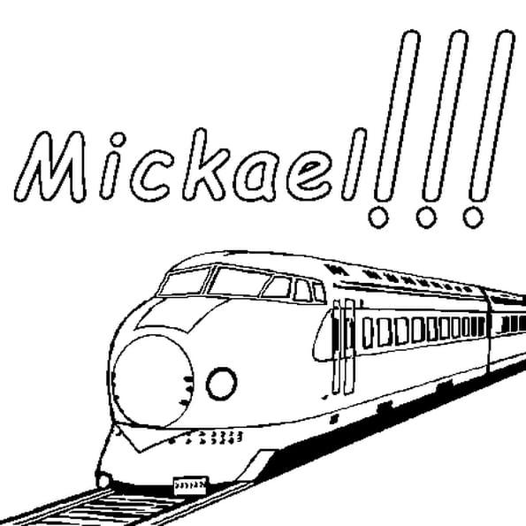 Dessin Mickael a colorier