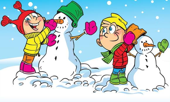 Coloriage vacances de Noël