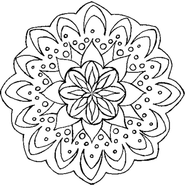 coloriage mandala fleur en ligne gratuit imprimer. Black Bedroom Furniture Sets. Home Design Ideas