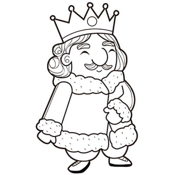 Coloriage Le Roi En Ligne Gratuit à Imprimer