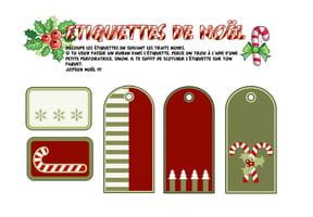 Étiquettes de Noël pour les cadeaux