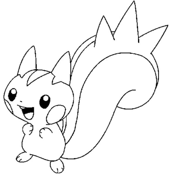 Dessin Pokémon Pachirisu a colorier